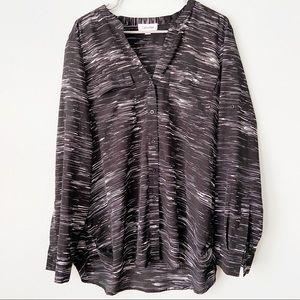 Calvin Klein Black & White Stripe Button Down